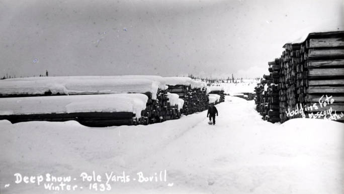 item thumbnail for Pole yards in Bovill, circa 1933