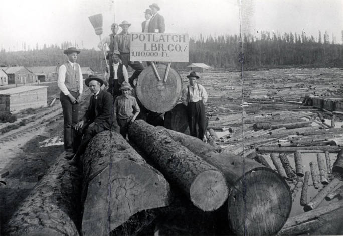 item thumbnail for Potlatch Lumber Company mill pond in Elk River