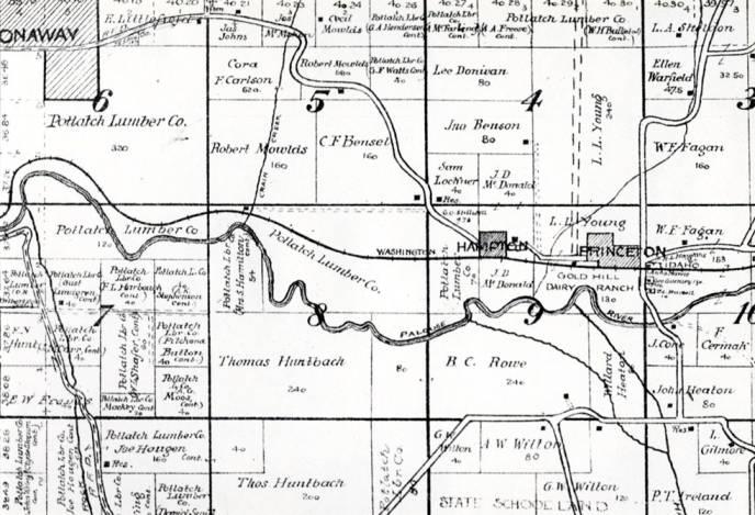 item thumbnail for Photo of map section showing Princeton/Hampton/Harvard