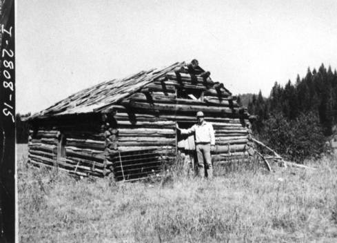 item thumbnail for Cabin in Woodfell, Idaho believed to be first post office