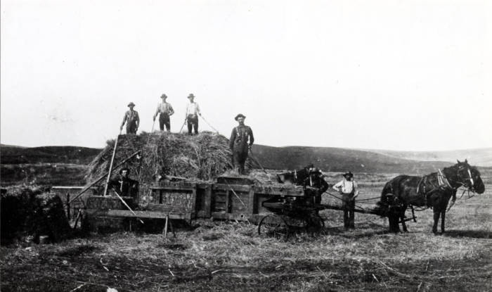item thumbnail for Lundquist brothers baling hay [02]