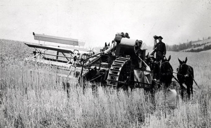 item thumbnail for Idaho National Harvester in action