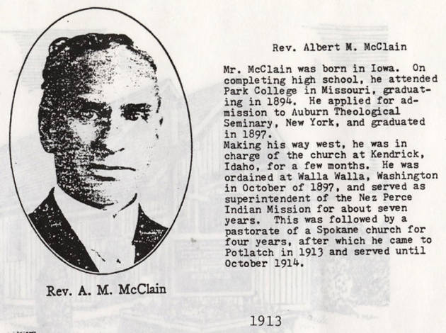 item thumbnail for Rev. Albert M. McClain
