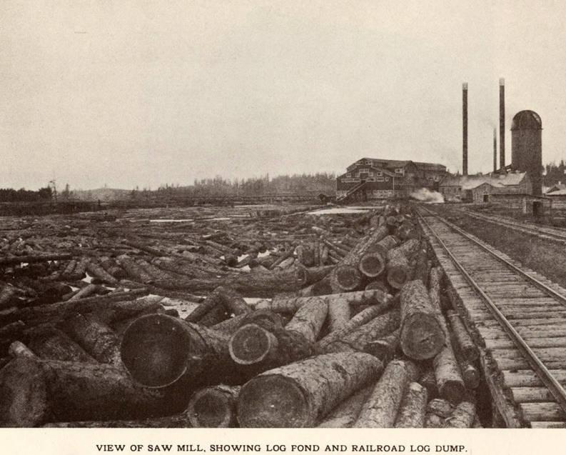 item thumbnail for Saw Mill, Log Pond, and Log Dump