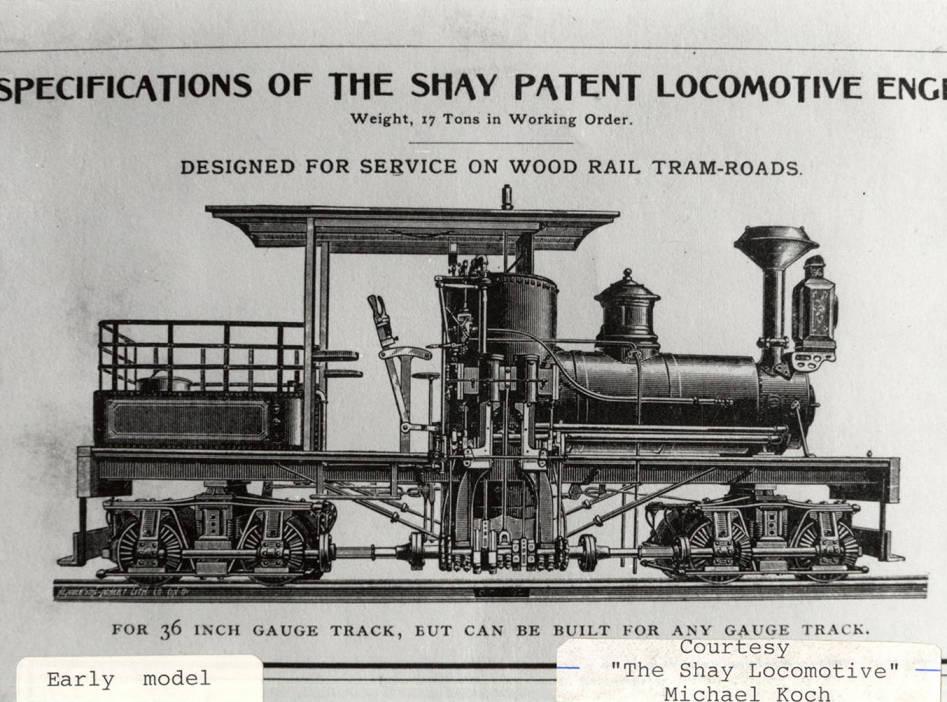 item thumbnail for Early Shay Locomotive Model