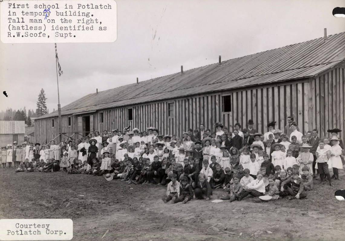 item thumbnail for First School in Potlatch