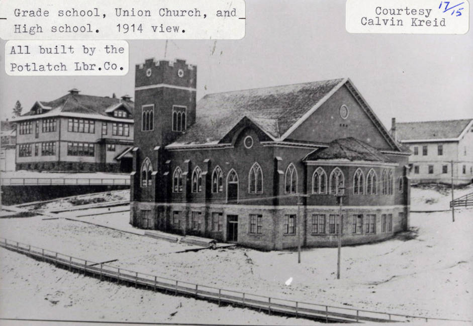 item thumbnail for Grade School, Union Church and High School