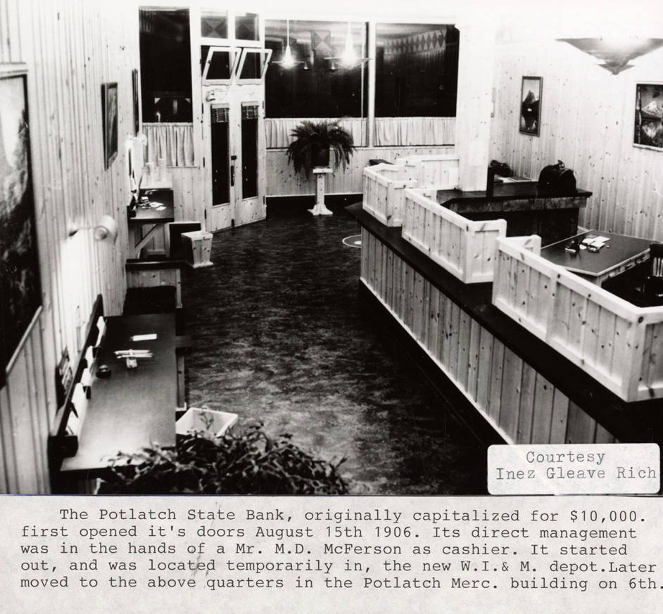 item thumbnail for Potlatch State Bank Interior