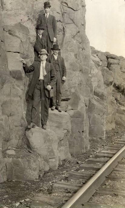 item thumbnail for Men By Railroad Tracks