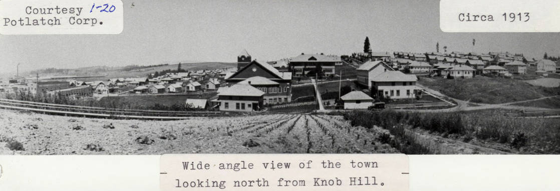 item thumbnail for View of Potlatch looking north from Knob Hill