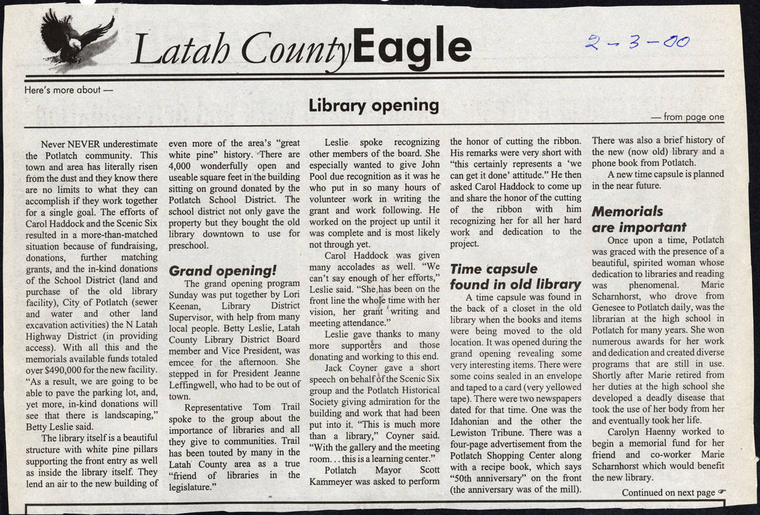 item thumbnail for Background of the founding of the Potlatch Library