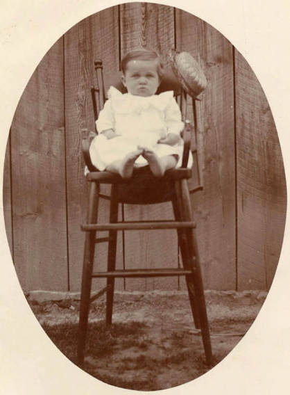 item thumbnail for Edward ''Eddie'' Bysegger informal portrait as an infant