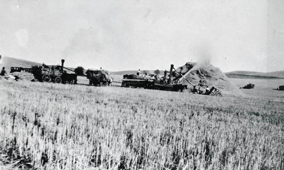 item thumbnail for Threshing crew at harvest