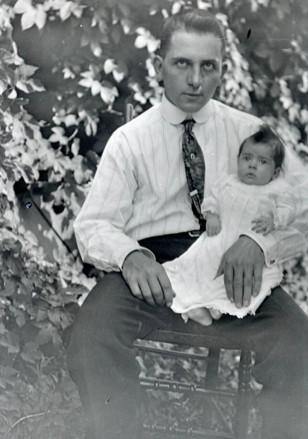 item thumbnail for Durell Nirk sits with his daughter Cleora