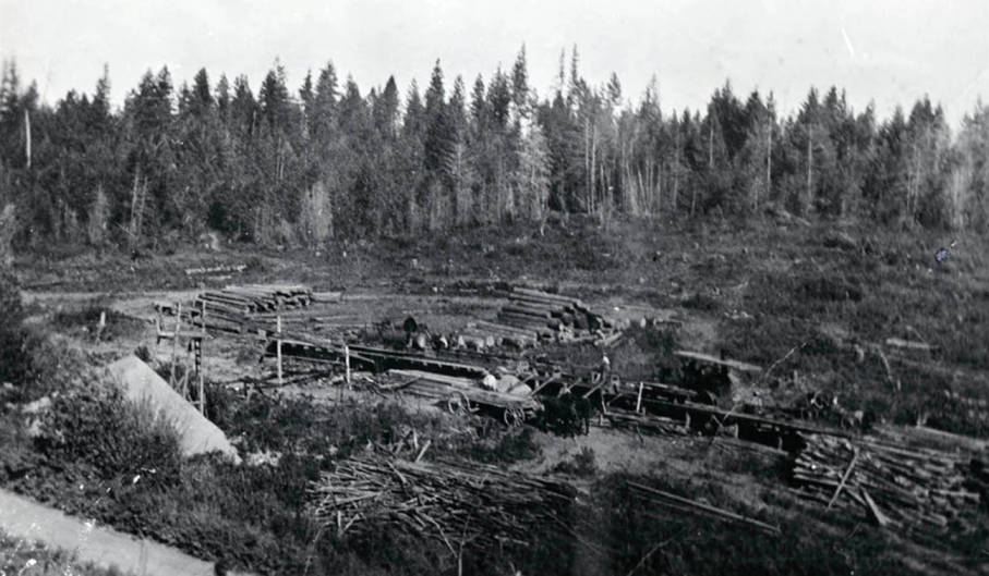 item thumbnail for Lumber production at Durell Nirk's first sawmill