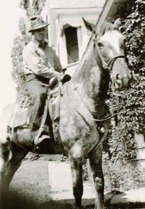 item thumbnail for Don Daily on horseback