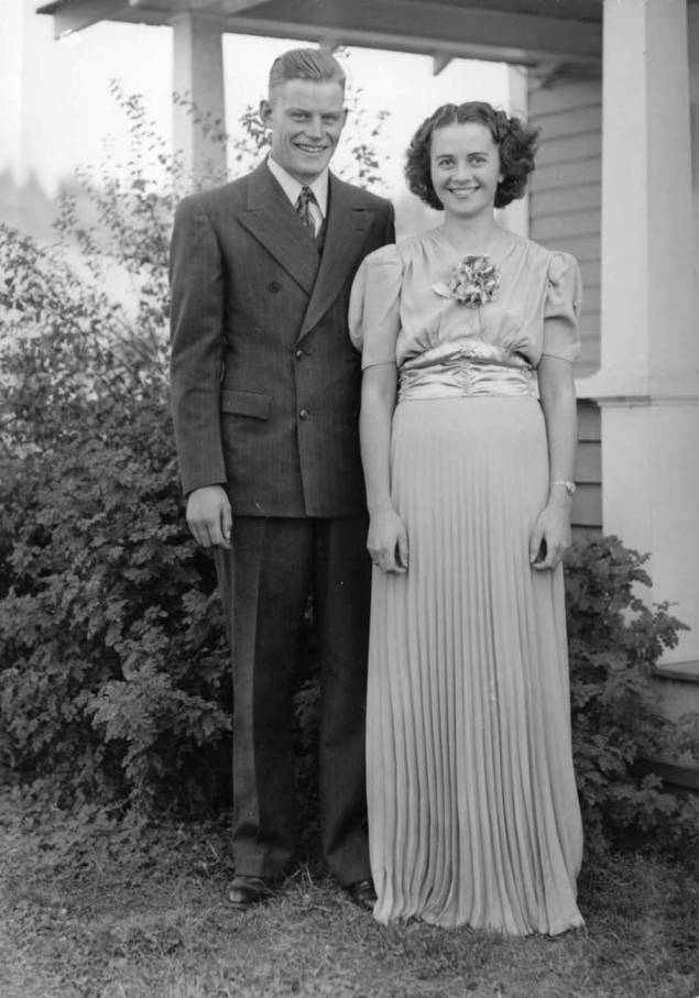 item thumbnail for Wedding photograph of Dwight and Cleora Nirk Strong