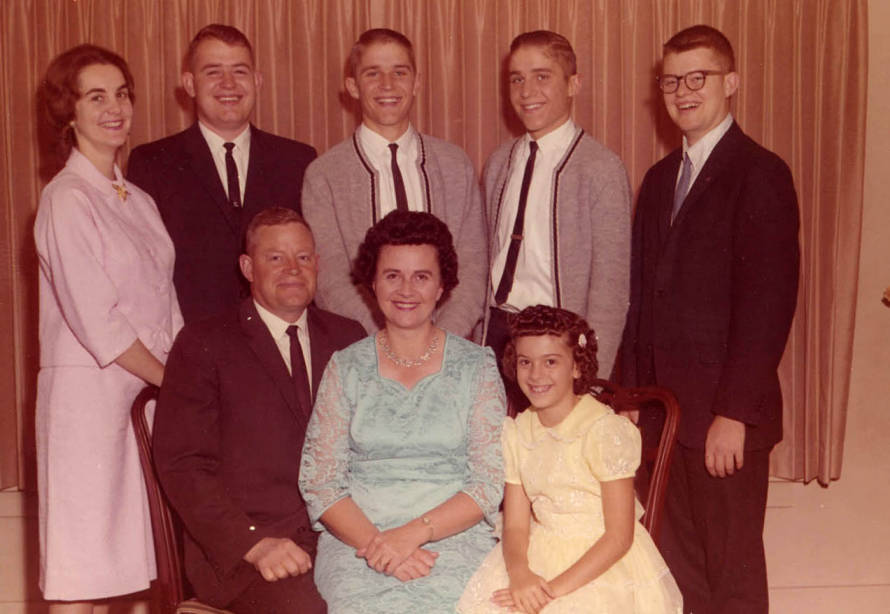 item thumbnail for Strong Christmas family portrait from 1964