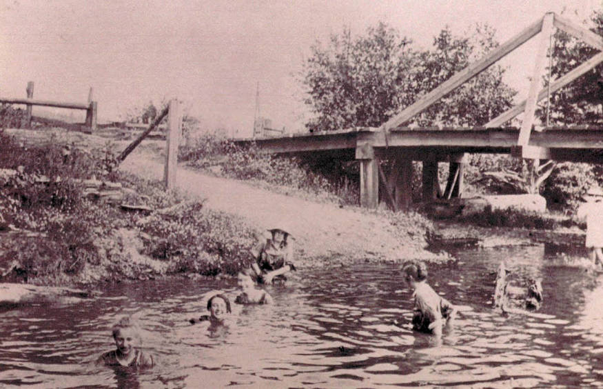 item thumbnail for Webster's Mill, Deep Creek; Swimming Hole - Fritz Brincken Place