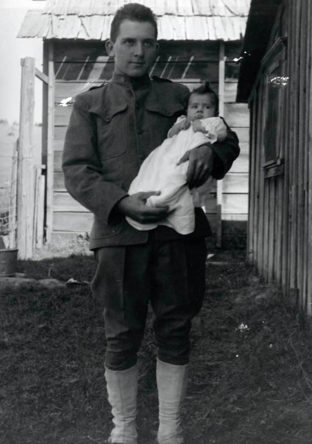 item thumbnail for Durell Nirk holding daughter Cleora