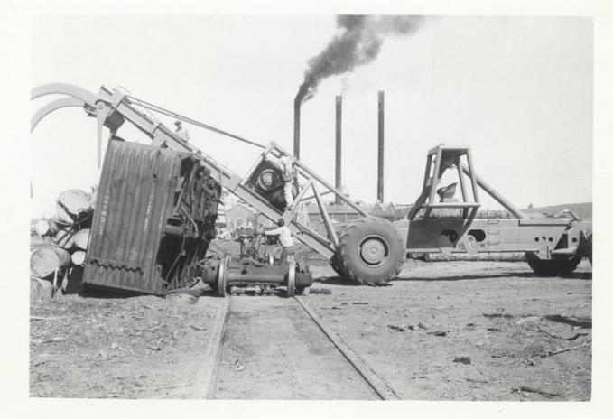 item thumbnail for Tipped Railroad Car