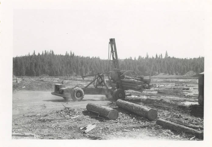 item thumbnail for Log Unloading Machine; Full Side View