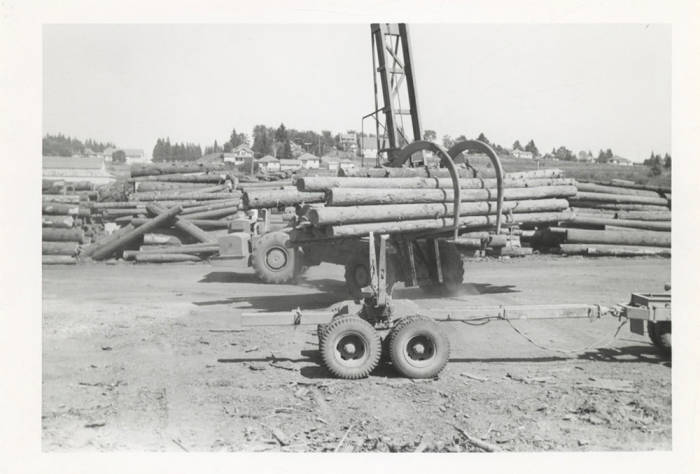 item thumbnail for Log Unloading Machine in the Yard