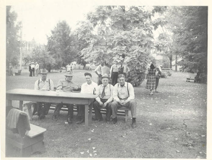 item thumbnail for Five Men on a Bench