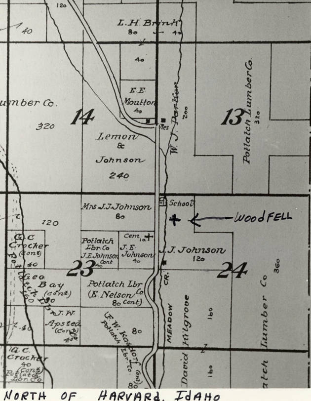 item thumbnail for Township Map North of Harvard Idaho