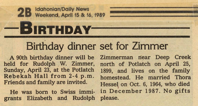 item thumbnail for Birthday Dinner for Zimmer