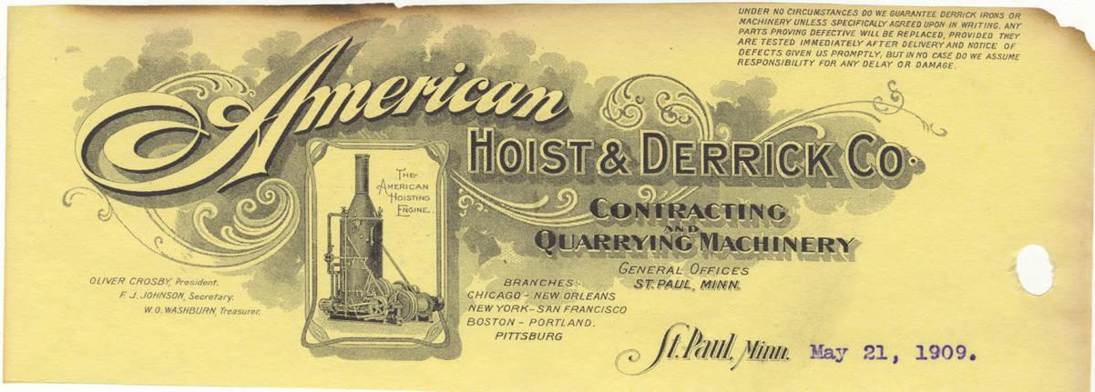 item thumbnail for American Hoist & Derrick Co.