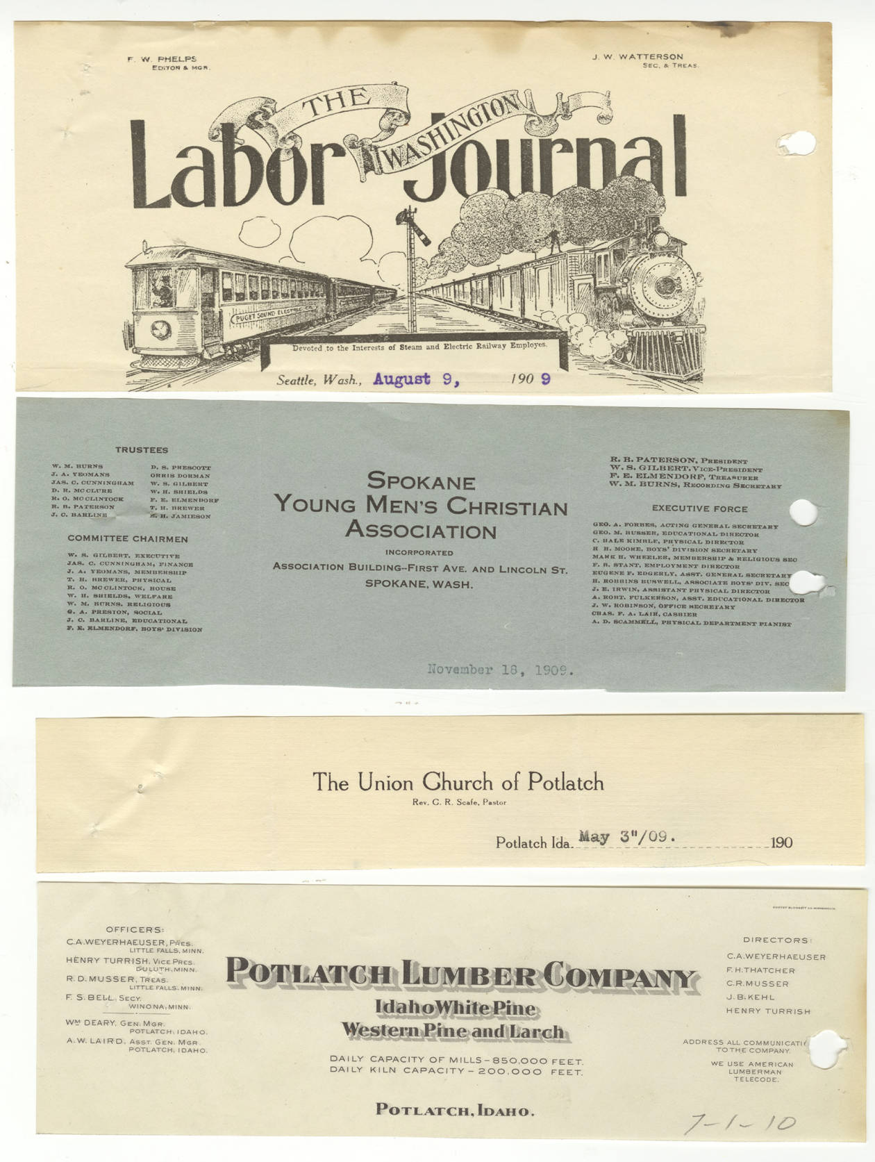 item thumbnail for Labor Journal, Christian Association, Union Church, and Lumber