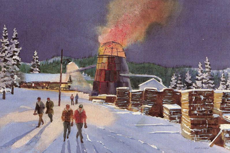 item thumbnail for Sawmill Watercolor Card