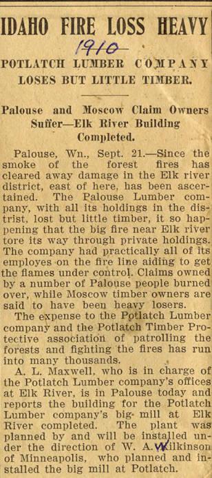 item thumbnail for Idaho Fire Loss Heavy