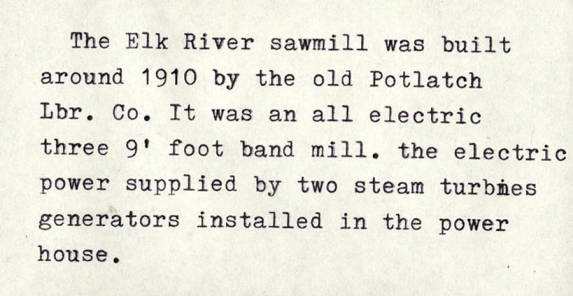 item thumbnail for Elk River Sawmill Electricity