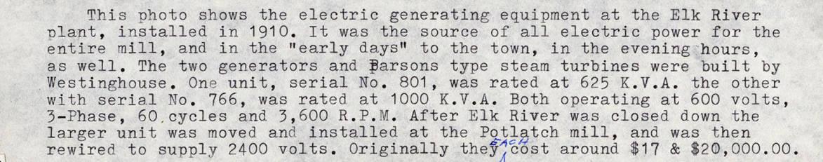item thumbnail for Electric Generating Equipment Description