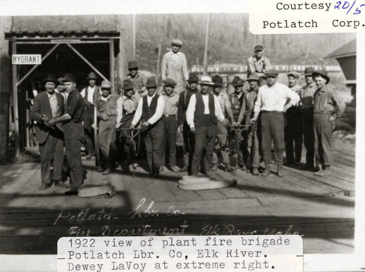 item thumbnail for Plant Fire Brigade of Potlatch Lumber Company
