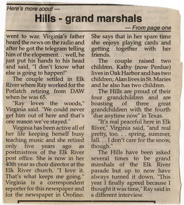 item thumbnail for Elk River Days Parade Grand Marshalls cont.