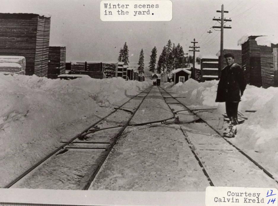 item thumbnail for Snow on Lumber Yard Tracks