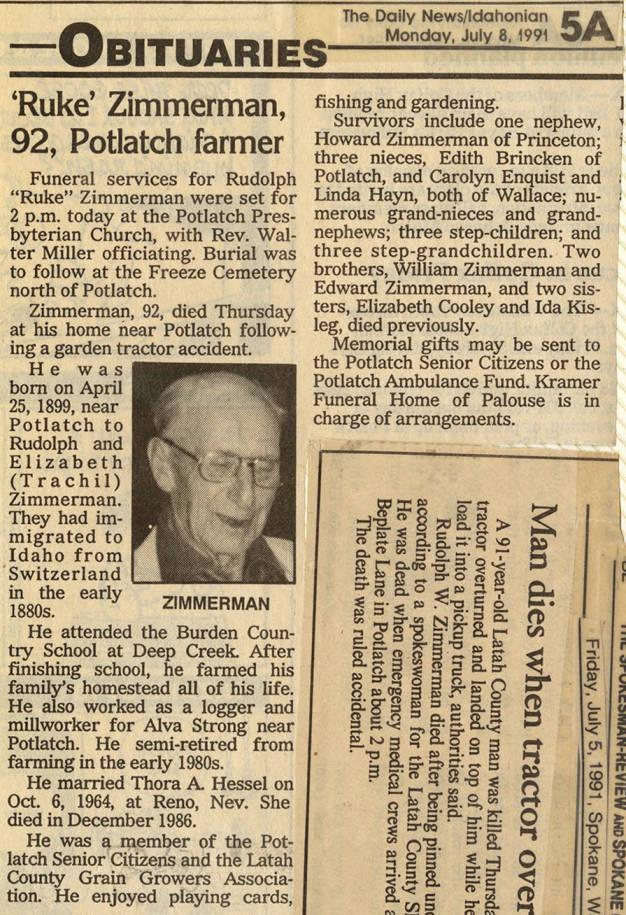 item thumbnail for Ruke Zimmerman Obituary