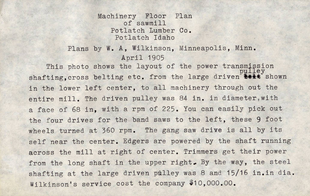 item thumbnail for Machinery Floor Plan Description