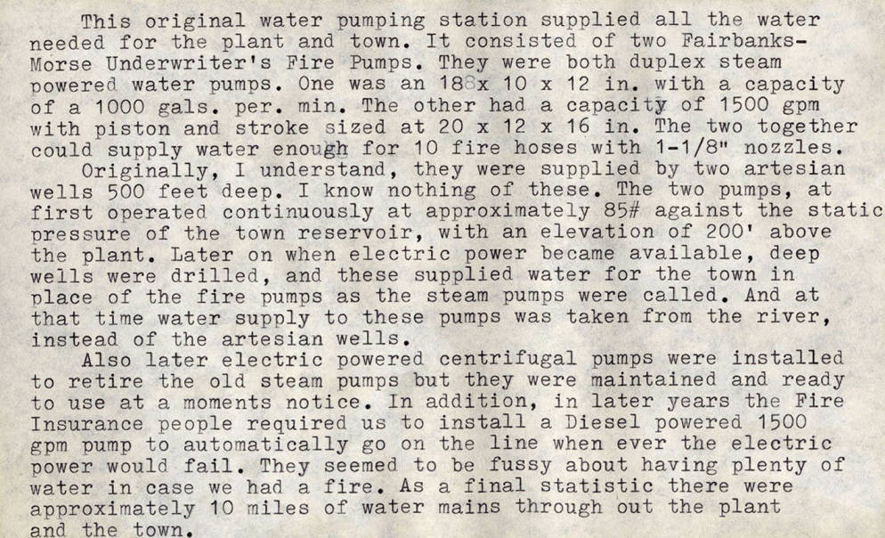 item thumbnail for Water Works Pumping Station Description