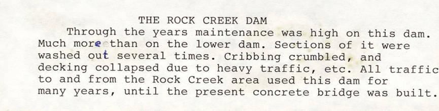 item thumbnail for The Rock Creek Dam
