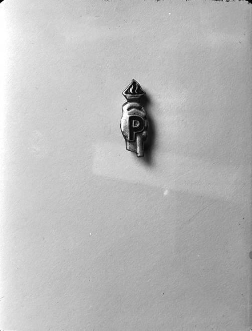 item thumbnail for Negative photograph of a Psychiana pin