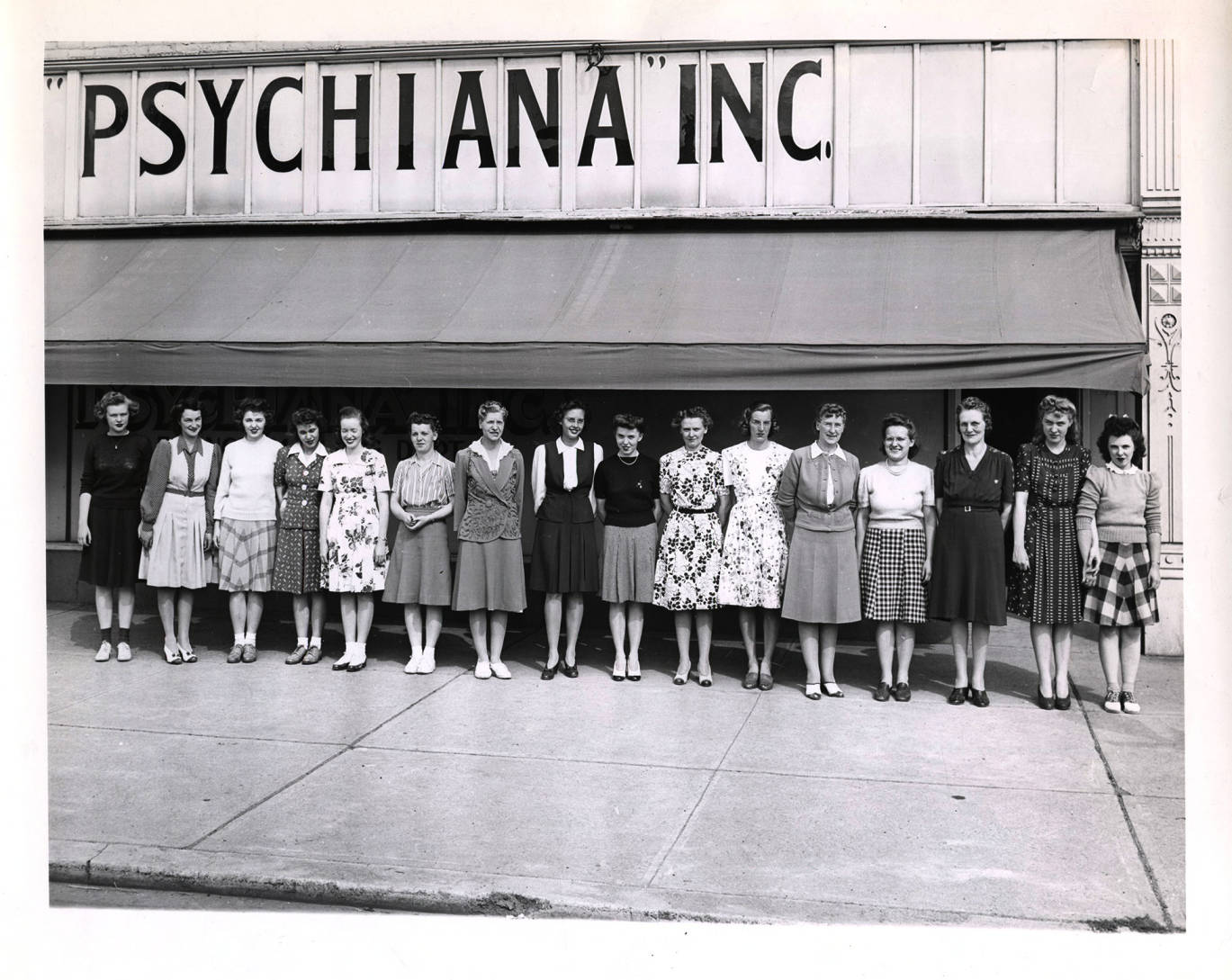 item thumbnail for Photograph of clerical and bookkeeping staff from the branch mailing department.