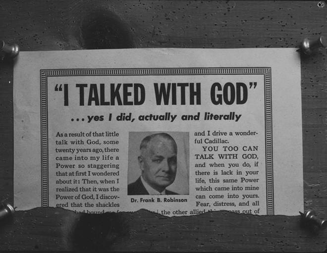 item thumbnail for I Talked With God Advertisement