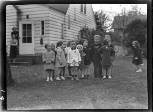 item thumbnail for Group of children, 1940 [1]