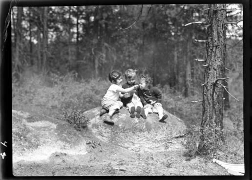 item thumbnail for John, Kay, and Helen Laughlin, 1940