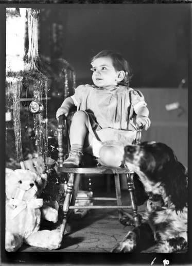 item thumbnail for Kay Laughlin at Christmas, 1937