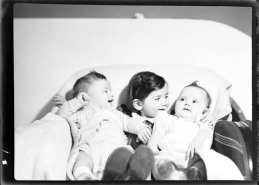 item thumbnail for John, Helen and Kay Laughlin, 1938